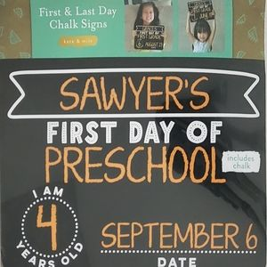 2 FOR 15 First Day of school Sign Chalk Board